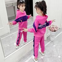 2019春秋季新款儿童洋气时髦运动两件套女童韩版秋装套装