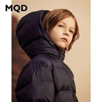 MQD童装儿童长款羽绒服2019冬装新款90白鸭绒加厚保暖男童外套潮