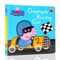 英文原版绘本 Peppa Pig George's Racing Car 粉红猪小妹 小猪佩奇 乔治赛车 0-3岁学习英