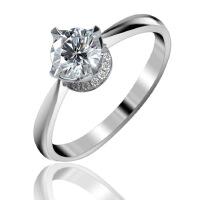 梦克拉 18K金钻石结婚戒指60分F-G 体会 可礼品卡购买