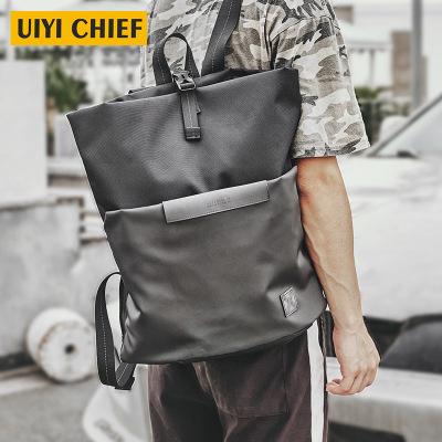 佑一良品通勤双肩包男时尚潮流潮牌背包书包男简约女背包旅行包