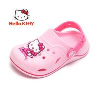 【3折价:29.7元】Hello Kitty 儿童洞洞鞋 凯蒂猫卡通休闲室内舒适百搭女童沙滩凉拖鞋KE181080