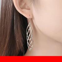 银饰流苏耳环女 韩国气质仙气大气显脸瘦的耳坠 小众设计感耳饰