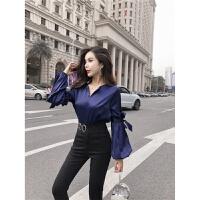 女神套装女装2018秋冬季新款韩版时尚洋气网红衬衫裤子秋装两件套