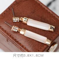 韩国风气质耳钉 人造猫眼石花朵天鹅百搭耳坠 简约个性耳环耳饰品