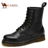 CAMEL骆驼 男女靴子 情侣款牛皮秋季新款时尚休闲马丁靴82091601