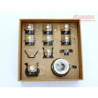 礼品茶具花草茶具套装耐热玻璃茶具套组整套茶壶功夫茶具礼盒