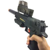 电动连发水晶弹抢儿童玩具互动吸水晶软弹枪充电锂电水晶弹 黑色 标准配置