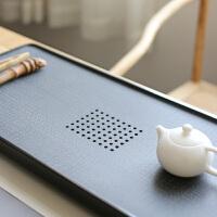 【新品】天然石头茶海乌金石茶盘石材茶台整块小大号家用简约茶具套装