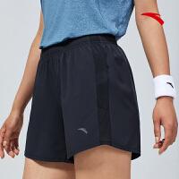 【到手价100】安踏女子速干运动 短裤2021夏季新品系带透气速干跑步裤162125503