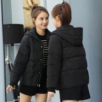 冬季外套女短款韩版新款棉衣女装潮面包服学生小棉袄加厚 黑色 注意版型是宽松版面包服