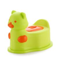 小熊儿童坐便器婴幼儿座便器宝宝便盆抽屉式带轮可骑马桶