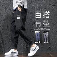 长裤秋冬男学生九分裤长裤哈伦裤灯芯绒玉米粒休闲裤