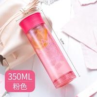 创意杯子水杯耐热玻璃杯家用办公室透明隔热塑玻杯LLG656