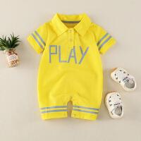 夏季薄款可爱萌婴幼儿哈衣运动服婴儿夏装男女宝宝外出服