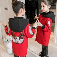 女童毛呢外套新款秋冬装韩版12大童15岁儿童洋气公主加厚呢子