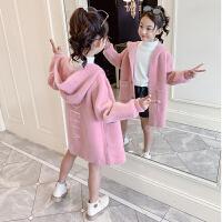小女孩洋气外衣2019新款儿童韩版洋气连帽休闲上衣女童秋冬装外套