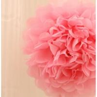 结婚用品生日派对装饰25cm纸花球婚礼婚房婚庆新房装饰花球牡丹花 25厘米纸花球 粉色