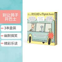 进口英文原版正版 It's a Busload of Pigeon 鸽子也会闹情绪系列3本精装全套盒装 Mo Willems 创新的互动阅读美国国家家庭教育出版金奖绘本家庭亲子读物一车的鸽子之书图画书