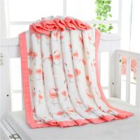 盖毯空调被儿童婴儿夏季竹纤维夏凉被包巾儿抱被纱布定制