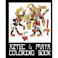 【�A�】Aztec & Mayan Coloring Book - 26 Designs to Color in -