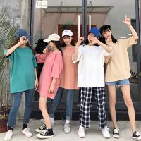 三木子快时尚女装~新款韩版百搭纯色短袖T恤糖果色上衣女