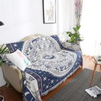 美式乡村沙发巾防尘罩复古怀旧棉毯沙发毯全盖地毯飘窗垫定制
