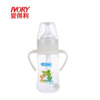 婴幼儿PP奶瓶240ml带柄自动吸管奶瓶宝宝防呛宽口径A91ADL 图案随机
