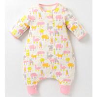 宝宝睡袋 防踢被婴儿睡袋 新生儿分腿分脚式睡袋宝宝春夏防踢被儿童睡袋春季wk-44 动物世界 粉色