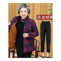 中老年人女装冬装妈妈装棉袄外套60-70-80岁老人衣服奶奶棉衣加厚