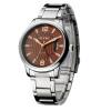 2018年新款 EYKI艾奇 全自动机械 日历钢带手表 8538 优雅棕色