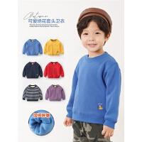 男童加绒卫衣秋冬款冬装童装儿童宝宝上衣婴儿秋装