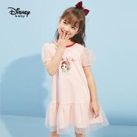 【抢购价:65元】迪士尼女童连衣裙夏2021新品夏装公主裙儿童夏款爱莎洋气纯棉裙子