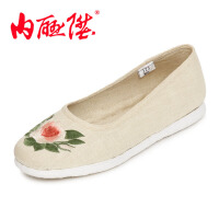 内联升女鞋布鞋 坤千层底加密亚麻海元女鞋 老北京布鞋 8726A