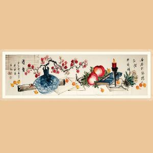 浙江花鸟画家协会会员,职业画家 王建秋(清香)ZH431