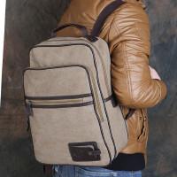 双肩包电脑包旅行包韩版帆布包多功能背包包学生书包