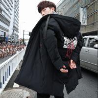 男士羽绒服中长款韩版新款秋冬季帅气外套潮流90白鸭绒大衣服