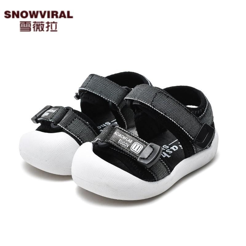 夏季1-2-3岁小童包头学步鞋女童软底鞋儿童鞋子男童宝宝凉鞋