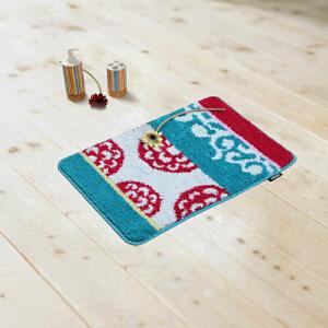 DADA大达 清新宜家室内地垫50*80�M门垫地毯 卫浴脚垫卫生间吸水防滑垫