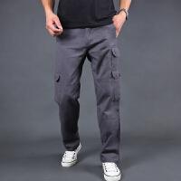 男士裤子春季休闲裤战术裤宽松多口袋工装裤男长裤潮