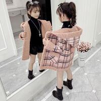 小女孩时尚连帽风衣2019新款洋气韩版中大儿童外衣女童秋冬装外套