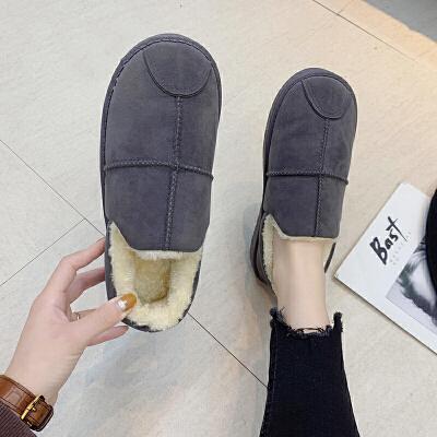 棉拖鞋女家居冬季室内包跟厚底情侣外穿月子保暖棉鞋家用秋冬天男