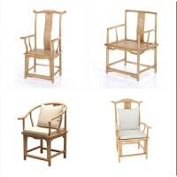 【新品热卖】休闲单人太师椅禅椅子中式座椅仿古实木圈椅官帽椅茶餐桌椅