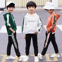 童装男童套装春秋款2018儿童套装装运动服外套长袖两件套中大童秋