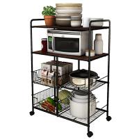 新款好方便厨房置物架厨房用品收纳架落地多层微波炉储物蔬菜碗锅架子