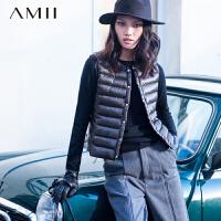 【AMII 超级品牌日】AMII[极简主义]冬新品无袖轻薄90绒羽绒背心11572011