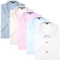 pauljones/保罗琼诗 夏季新款时尚休闲男士棉麻短袖衬衫