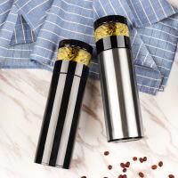 真空保温杯 男女士商务茶水分离泡茶杯 便携不锈钢水杯子