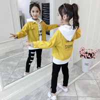 2019新款韩版中大童女孩洋气时髦卫衣三件套女童春秋季套装