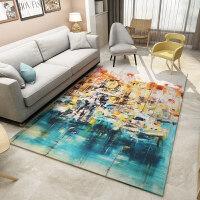 北欧地毯客厅卧室茶几垫欧式简约现代抽象沙发床边美式长方形地毯现代方形清新地毯正方形图案可爱进门简约